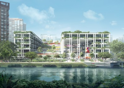 Oasis Terraces – Punggol Neighbourhood Centre and Polyclinic